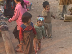 Akha children on village streets