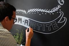 Bom apetite (Ivan Jernimo) Tags: restaurant design chalk interior florianpolis restaurante lettering calligraphy chalkboard visual interiores decorao blackboard ilustrao giz trabalho painel letras comunicao caligrafia lousa   quadronegro calligraphie letreiro     letreiramento