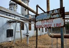 Water Spray Line (Sherlock77 (James)) Tags: building pipes alberta turnervalleygasplant