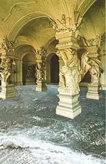 Caution! Wet floor (DulceChicoLatina) Tags: ocean original sea art wet collage analog paper greek floor handmade column cutpaste