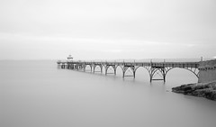 Be still (Collingwood505) Tags: longexposure blackandwhite water monochrome pier blackwhite nikon somerset d750 silky clevedon clevedonpier 10stopfilter