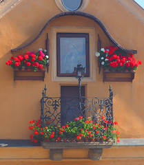 Prague Balcony (Grazerin/Dorli B.) Tags: prague czech republic detail street window elements