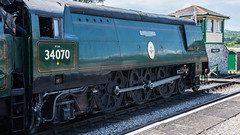 Harmans Cross Station 48 (Matt_Rayner) Tags: swanage railway 34070 manston sr battle of britain class steam train