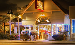 """""""Aloha on the Beach"""" Storefront (JDS Fine Art & Fashion Photography) Tags: architecture storefront beachfashion business clothingstore night style tropical"""