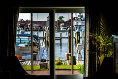 room with a view (-gregg-) Tags: room boats marina tree grass door harbor