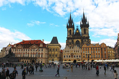 Church of Our Lady before Tn across the Old Town Square in Prague (travelmag.com) Tags: czech prague historic oldtownsquare churchofourladybeforetn