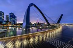 Elizabeth Quay at Dawn, Perth (stephenk1977) Tags: bridge sky water rain sunrise dawn twilight nikon elizabeth australia quay perth western wa lightroom d3300
