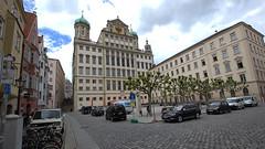 Rathaus Rckseite - Augsburg (Stefan_68) Tags: germany bayern deutschland bavaria place cityhall platz cobblestones townhall rathaus augsburg ayuntamiento hteldeville kopfsteinpflaster augsburgerrathaus