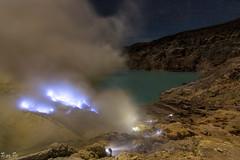 Mount Ijen, Indonesia (JasonthePhotog) Tags: blue nature beautiful night indonesia landscape scenery flame ijen
