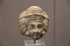 Limestone head from statuette of woman, Tell Asmar (ancient Eshnunna)? Early Dynastic Period III (Gary Lee Todd, Ph.D.) Tags: france louvre paris ancient neareast