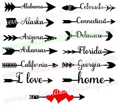 States Arrows #1 Svg (cardsandstitches) Tags: statearrowssvg arrowstatessvg svg digitalcuttingfile vectorfile clipart