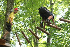 Challenging fun on the High Ropes Course during Session No. 2 of Summer 2016