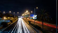 Another Night Shift (Yam Amir) Tags: road longexposure light urban white night contrast landscape 50mm israel telaviv nikon df raw nikkor lightroom yamamir