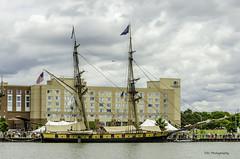 Flagship Niagara (TAC.Photography) Tags: baycitytallships2016 niagara tallships saginawriver masts sails flags
