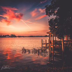 Warm afternoon (AmaurieRaz) Tags: canon canonphotography sunset winterpark centralflorida travel square squareformat project photography clouds pink reflection park lake dusk