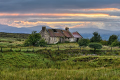 Sperrins Cottage - Strabane - Northern Ireland (Gareth Wray - 9 Million Views - Thank You) Tags: old abandoned house cottage famine stone summer northern ireland ulster ni uk scenic landscape sperrins sperrin county tyrone hdfox hd fox gareth wray photography strabane nikon nikkor sky sunset red spring sun plumbridge traditional set tourist tourism site visit countryside country side scape grass frosty british irish colourful hills photographer home vacation holiday europe farm homestead stead sunrise morning rise plumb skyline outdoor 70200mm d810 2016