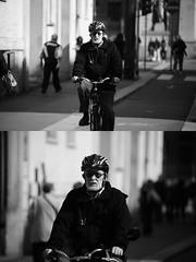 [La Mia Citt][Pedala] (Urca) Tags: milano italia 2016 bicicletta pedalare ciclista ritrattostradale portrait dittico bike bicycle biancoenero blackandwhite bn bw 872158
