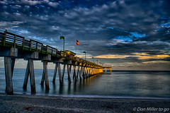 Calm Seas (DonMiller_ToGo) Tags: hdr outdoors sharkys hdrphotography pier onawalk 3xp sky d5500 goldenhour longexposure florida clouds