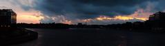 Burning skies (skochkarev) Tags: evening river sunset bridge city buildings clouds