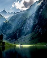 2016 08 Appenzell maison soleil montagne (AKAMASSI) Tags: mountain suisse switzerland sky swiss sun summer canon tamron light restaurant forest lostworldpics lostwordlpics clouds pierremichel pierremichelphotography