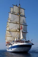 Royal Clipper Under Sail IMG_4479 (SunCat) Tags: royalclipper goldenhorn barenecessities cruise travel vacation europe 2016 all canon powershot g3x nude naturist naturists poros greece tallship