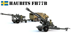 Haubits FH77B (Matthew McCall) Tags: lego war military army sweden swedish cold gun howitzer cannon towed