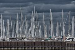 Bronte Forest (KWPashuk) Tags: nikon d7200 nikkor70300mm lightroom nikcollection bronte harbour marina oakville ontario canada boats masts pier hdr outdoors