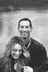 (DewDrop17) Tags: couple engaged engagement blackandwhite happy candid love inlove laughter photoshoot