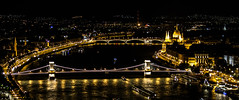 The City That Never Sleeps (mikebakker2) Tags: budapest   magyarorszg ungarn hungary hungra ungheria  city   night nightphotography panorama panoramic view views longexposure light lights architecture composition parliament building buildings bridge bridges river danube donau duna urban exploration urbanexploration travel traveling traveler world europe europa   eurpa