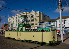 Turned Out Nice Again (subterraneancarsickblues) Tags: blackpool lancashire seaside resort town seafront promenade tram heritagetram boat230 vehicle wide wideangle sunshine canon rebelt2i eos550d kissx4digital sigma18250mm goldenmile