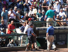 Escorted Off - Aug 24, 2016 (Jeffxx) Tags: seattle mariners safeco baseball man remove escorted trouble fans audience yankees game 2016 august field security camera dugout drunk