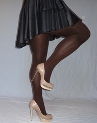 01 (read my Profile before anything!!!!!) Tags: nude gold high buffalo highheels skirt heels heel corsage stilettos