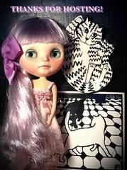 Blythe-a-Day January#29: Hello Kitty; and Lyra Says THANKS!