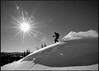 Over the Top (Patrick.Russell) Tags: blackandwhite bw white snow ski sunshine contrast nikon colorado skiing co backcountry sanjuans tamron telemark plume d300 1116 earnyourturns skiuphill