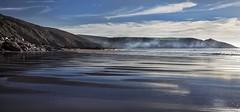 Mist rolling in from the Sea (explored) (yadrad) Tags: sea mist southwest beach sand cornwall whitsandbay ramehead tregonhawke