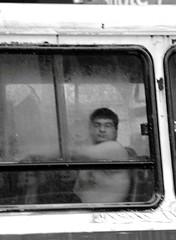 Transportacion (carlos_ar2000) Tags: poverty street man blur bus argentina rain calle lluvia buenosaires downtown centro mirada glance hombre colectivo omnibus pobreza sannicolas