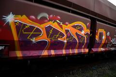 graffiti on freights (wojofoto) Tags: amsterdam graffiti brain trein traingraffiti freighttrain cargotrain freighttraingraffiti wolfgangjosten wojofoto