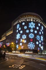 El Corte Ingles (Dan Photographic) Tags: barcelona christmas spain sam christmaslights catalunya dt1855mm sonya65