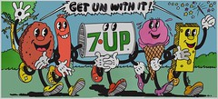 "1971 21'x10' 7Up UnCola ""Get Un With It"" vintage billboard poster by Pat Dypold (btreat) Tags: vintage poster 1971 hotdog cookie swisscheese retro billboard icecream 7up spongebobsquarepants uncola vintageposter retrobillboard patdypold getunwithit vintagebillboardposter retrobillboardposter"