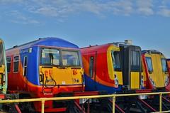 Refurbished... (stavioni) Tags: west electric south rail trains depot multiple emu wimbledon unit swt class458 class455 railwaytrain class456 456016 458009 456006 458504