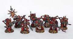 "World Eaters Havocs ""Teeth of Khorne"" (Uruk's Customs) Tags: world red chaos space warhammer marines wh40k eaters corsairs khorne berserkers berzerkers"