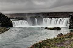 Godafoss (Jen St. Louis) Tags: fog landscape waterfall iceland hdr godafoss goðafoss northiceland nikon1685mm nikond7000 jenstlouisphotography wwwjenstlouisphotographycom