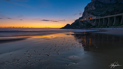 Goodnight Gaeta (Stefano Viola) Tags: sunset sea italy seascape nature reflections nikon tramonto mare natura bluehour riflessi gaeta lazio waterscape santagostino orablu d810