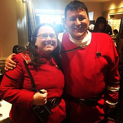 Our chief Science Officer, Lena, with our friend Brian. #GalaxyFest / on Instagram https://instagram.com/p/zq1opLMmiW/