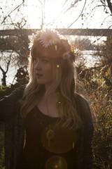 (kjj.photo) Tags: flowers sunset sun flower cute water girl sunshine river lens outside exposure hipster eugene lensflare flare cutegirl autzen flowercrown autzenstadium