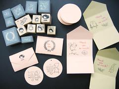 Happy New Year! (hanaletters) Tags: wool handmade stamps felt rubber korean etsy stationery hanaletters