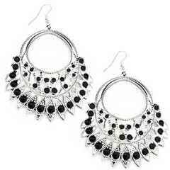 5th Avenue Black Earrings P5120A-5