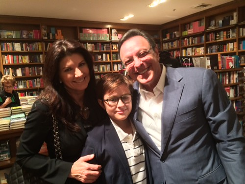 """Constance, Christopher and Michael Fernandez at Books and Books during Michael's signing for his book """"Humbled by the journey"""""""
