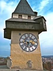 Graz (schasa68) Tags: city austria sterreich aussicht graz turm bauwerk stdte steiermark styria uhr uhrturm bundesland sehnswrdigkeiten aussichtsplattform ausflugsziel localattractions sehenswert stdtetripp grazeruhrturm