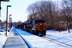 CSX (Littlerailroader) Tags: railroad winter snow train snowy massachusetts newengland trains andover transportation locomotive trainspotting locomotives railroads csx ballardvale newenglandrailroads andovermassachusetts